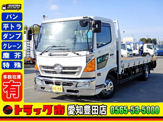 日野 重機運搬車 キャブオーバ ETC 4.15t 中型 6MT 重機運搬車 キャブオーバ ETC 4.15t 中型 6MT
