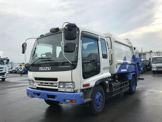 いすゞ プレスパッカー車 積載3トン 連続作動車 汚水タンク 6MT