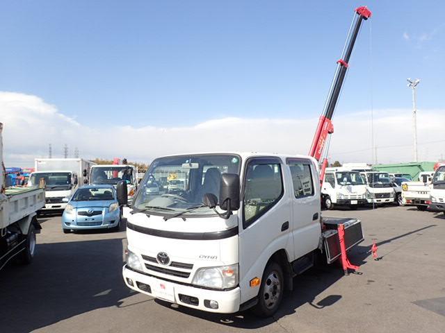 トヨタ 平 簡易クレーン Wキャブ 1.1トン 5速MT 全低床