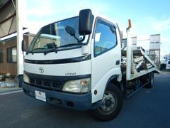 ダイナトラック2台積み積載車 自動あゆみ ウインチ リモコン付 3.4トン