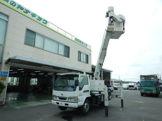 日産 高所作業車 作業高14.6M アイチ製 5MT バックカメラ