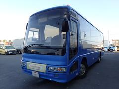 三菱ふそう観光仕様 29人乗りバス 貫通トランク スイング自動ドア