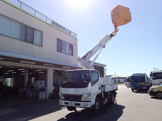 三菱ふそう アイチ製高所作業車 9.7M 5MT バケットFRP絶縁仕様