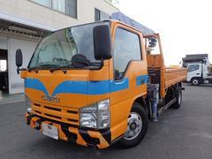 エルフトラック平3段クレーン フックイン 2トン 6MT 3方開 タダノ製