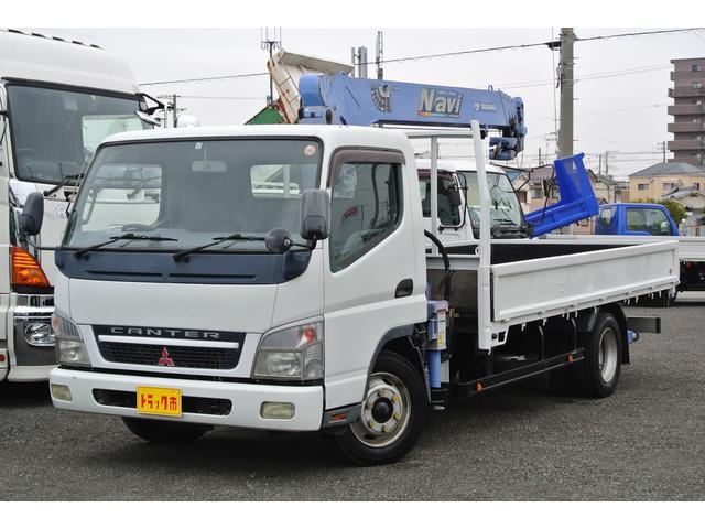 三菱ふそう クレーン付平ボディー 積載量3500kg TADANO製4段