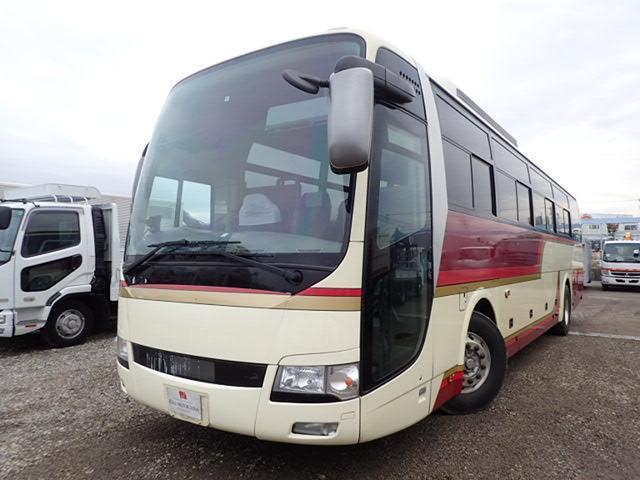 三菱ふそう 37人乗 バス ハイデッカー フルエアサス 貫通トランク2本