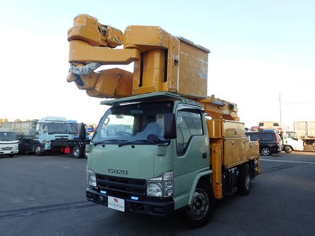 いすゞ アイチ製 電工仕様 高所作業車 14.6M バケットFRP