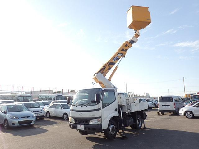 日野 高所作業車 5速 アイチ製 4WD 作業床9.7m