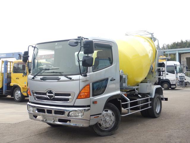 日野 ミキサー車 増トン 容積6.3立米 水ポンプ 積載7.88t