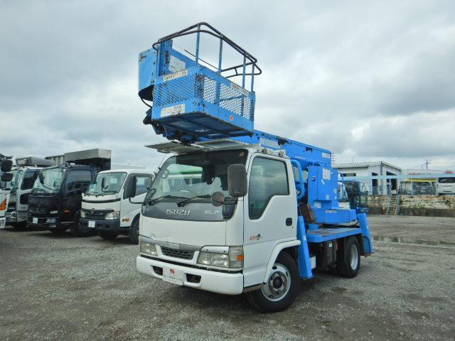 いすゞ エルフトラック アイチ製高所作業車 作業床12M 鉄バケット AT車