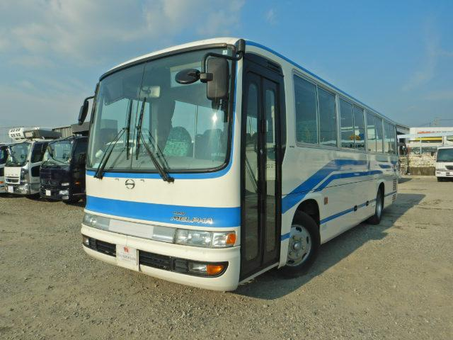 日野 メルファ 37人乗り送迎バス 二つ折り式自動扉 貫通トランク