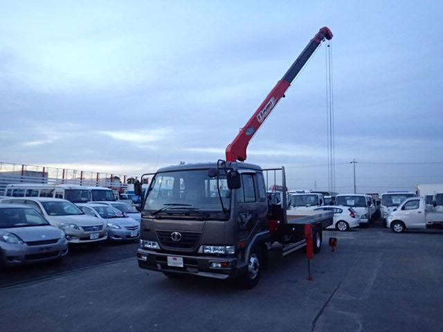 日産ディーゼル 4段クレーン ロング 2.7t積載  6MT ラジコン付