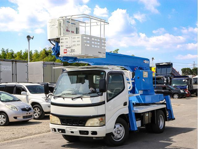 日野 デュトロ 高所作業車 アイチ 12m 鉄バケット 坂道発進補助装置