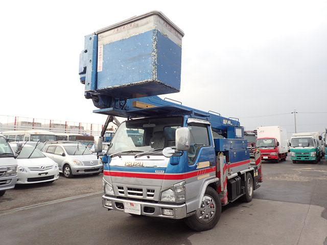 いすゞ 15m 高所作業車 5MT FRPバケット ジョイスティック