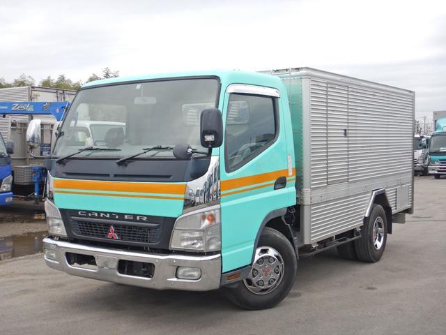 三菱ふそう キャンター バキュームカー 3t ワイド 電動ホースリール 糞尿車