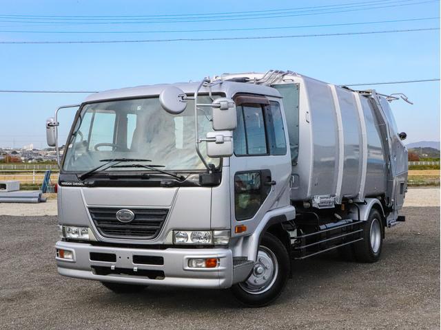 日産ディーゼル プレス式パッカー車 10立米 増トン 連続スイッチ 塵芥車