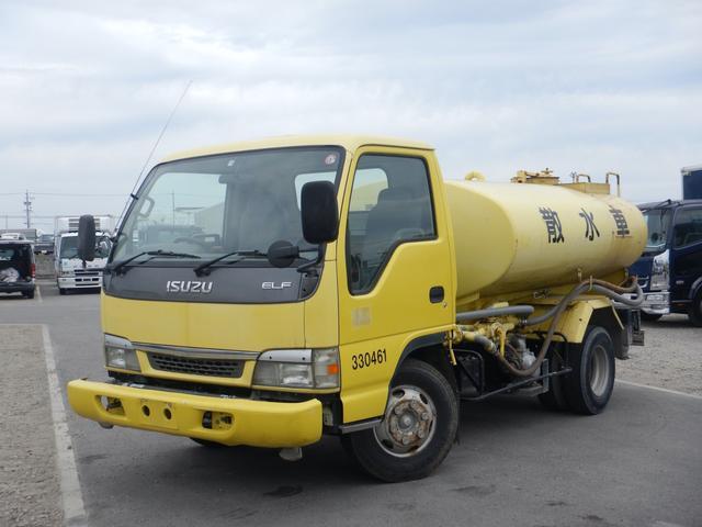 いすゞ エルフトラック 4t 散水車 PTO式 ワイド タンク容積4000L