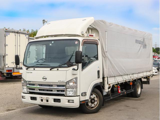 日産 アトラストラック  電動幌ウイング ワイド超ロング 3t カスタムグレード ラッシングレール