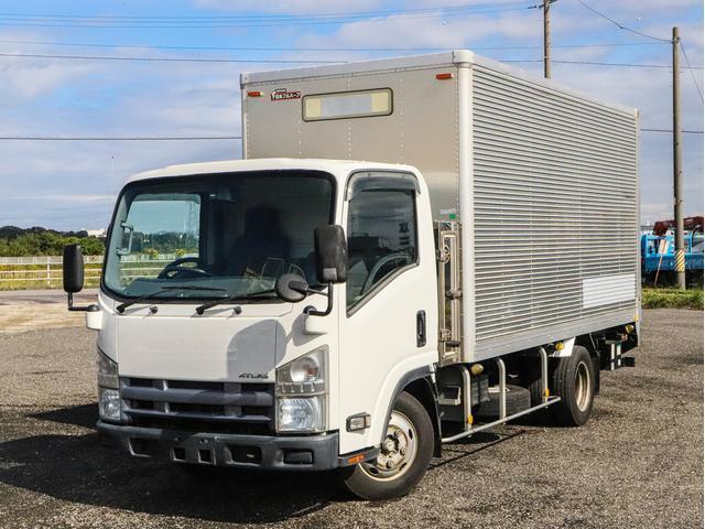 日産 アトラストラック  全低床 3トン パワーゲート付 アルミバン 標準ロング AT ドライバン 日本フルハーフ 収納箱