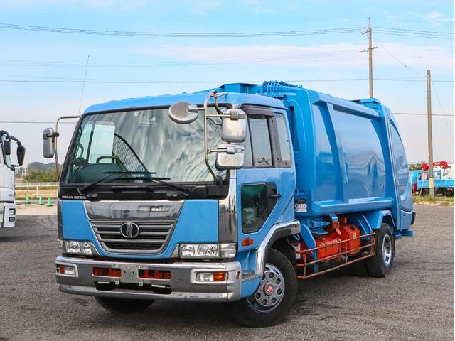 UDトラックス  プレス式パッカー車 増トン 容積10.2立米 新明和GPX 連続スイッチ ベッド付き
