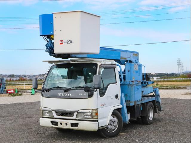 いすゞ エルフトラック  高所作業車 12m FRPバケット アイチ製 SS12A