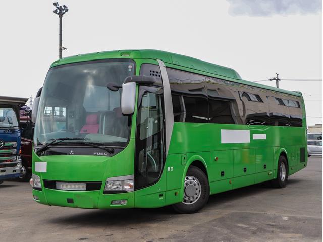 三菱ふそう  43人乗り大型バス ハイデッカー 420馬力 観光バス カスタム内装 貫通トランク3本 6MT