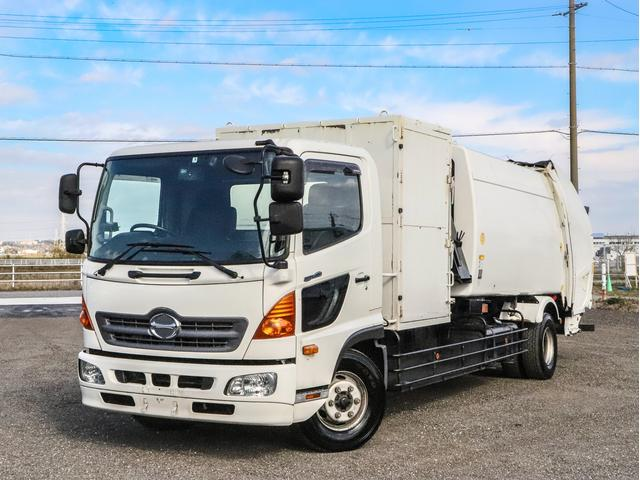 日野  プレス式パッカー車 容積10立米 増トン 計量器付 スケールパッカー車 連続スイッチ 4t 240馬力