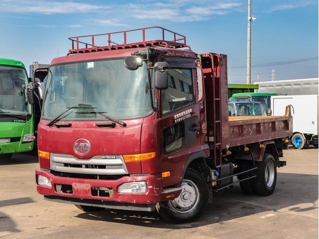 UDトラックス  4tダンプ 6MT 土砂ダンプ 鳥居アングル補強 ETC 215馬力ターボ