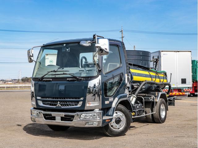 三菱ふそう  バキュームカー 容積3400L 4t 電動ホースリール 糞尿車 210馬力
