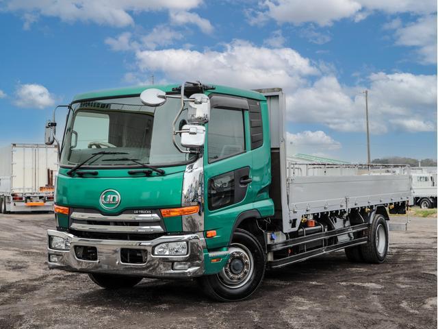 UDトラックス コンドル  増トン 8.8t アルミブロック 平ボディ 標準セミロング ベッド付き 6MT