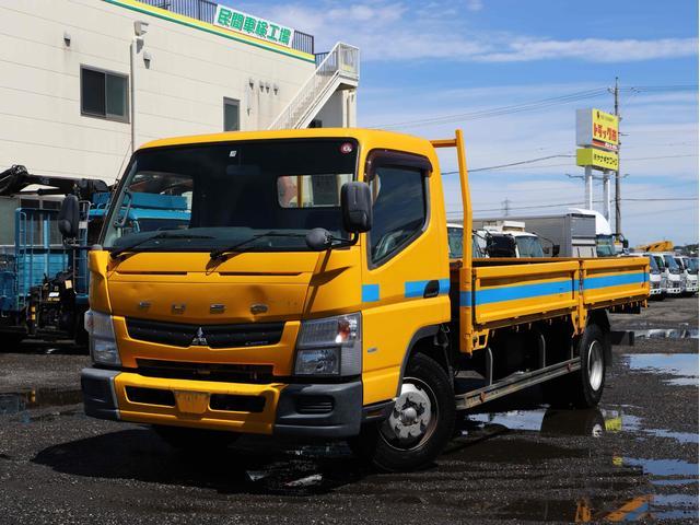 三菱ふそう キャンター  4t ワイド超ロング 平ボディー 5MT 高床 175馬力