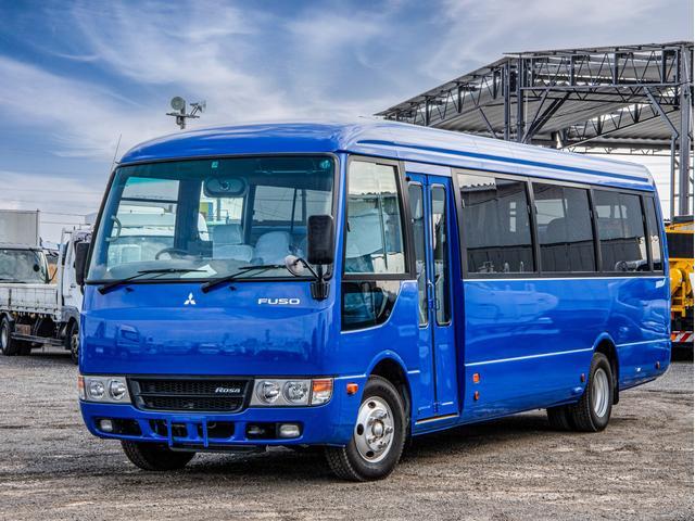 三菱ふそう ローザ  33人乗り スーパーロング 5MT マイクロバス リクライニング 自動ドア ハイルーフ