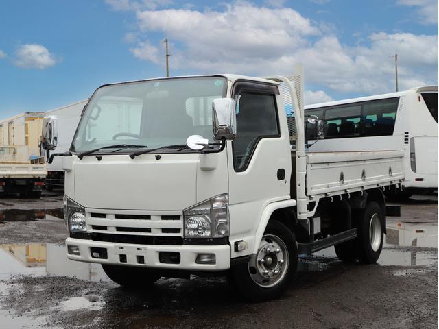 いすゞ エルフトラック  積載4000kg 平ボディー 標準セミロング 高床 AT