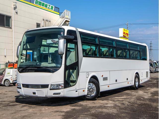 三菱ふそう  42人乗り 観光バス ハイデッカー 貫通トランク2室 10列シート 総輪エアサス スイング式自動ドア ニーリング