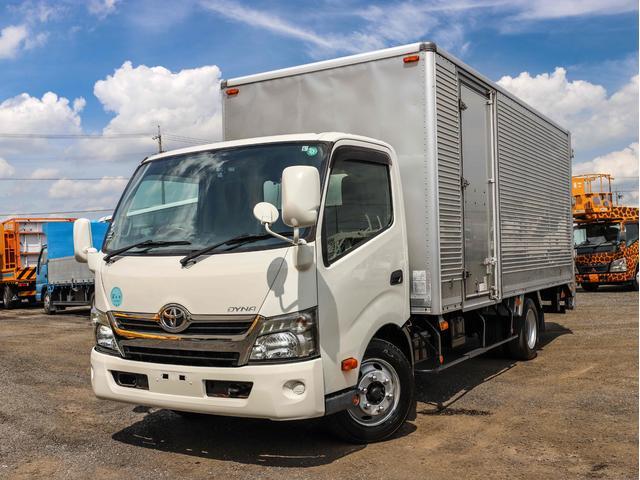 トヨタ ダイナトラック  アルミバン 3t 格納パワーゲート付き ワイド超ロング 左サイドドア バックアイ ラッシングレール1段
