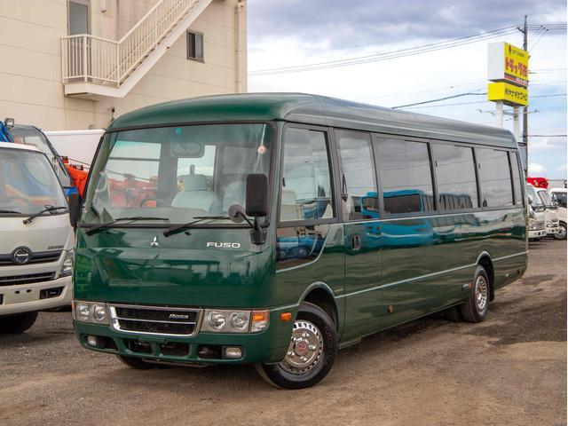 三菱ふそう ローザ  25人乗り スーパーロング マイクロバス AT 観光仕様 リクライニングシート 自動扉 リア観音扉 オートステップ
