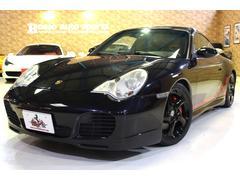 911 996カレラ4S バサルトブラック 純正スポーツサス ブラックペイントAW 社外HDDナビ TV