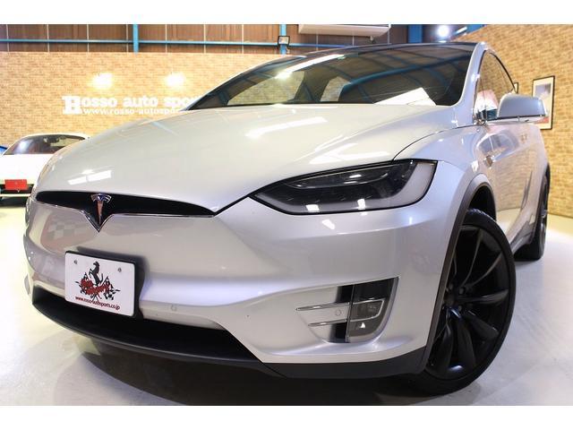 モデルX(テスラ) 90D ワンオーナー プレミアムアップグレードパッケージ 22インチ オニキスブラック ホイール パノラミックウインドシールド 中古車画像