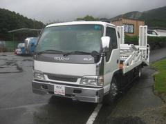 エルフトラック積載車2台積みキャリアカー2700kg積載車Dターボ