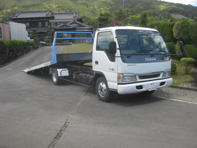いすゞ エルフトラック 1オーナーNOX適合ラジコンセルフローダー積載車キャリアカー