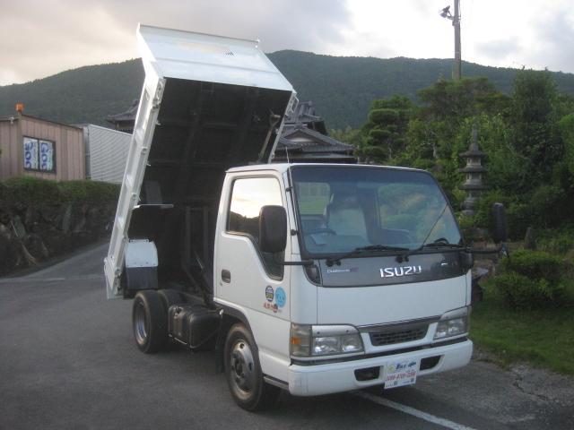 いすゞ エルフトラック NOX適合3t強化ダンプ3000kg積載車