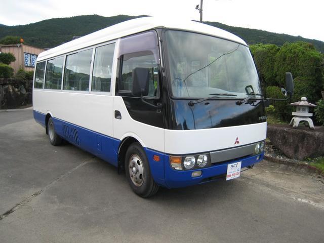 三菱ふそう 1オーナーNOX適合29人乗りマイクロバス自動ドア29人