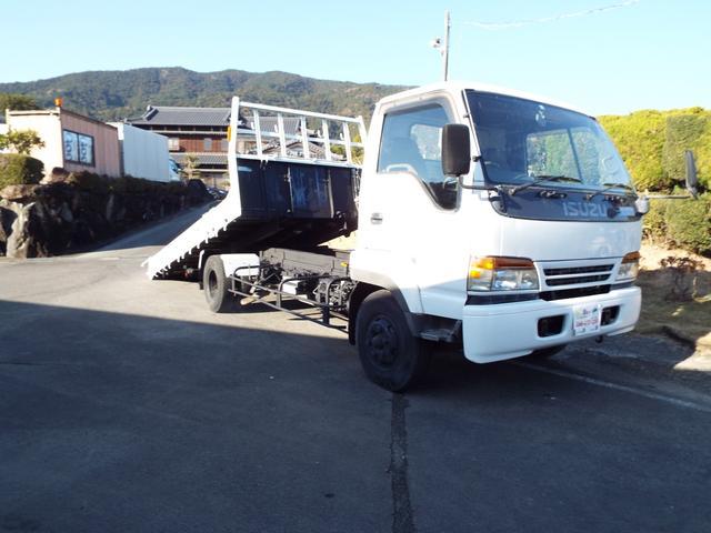 いすゞ  3400kg一般型積載車 4tベース 横開き エアーブレーキ  キャリアカ-
