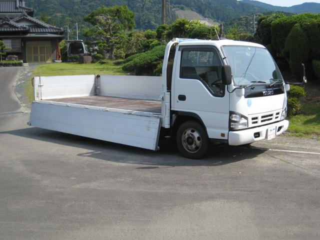 いすゞ エルフトラック  NOX適合ワイドロングアルミブロック全低床平ボディー2000kg