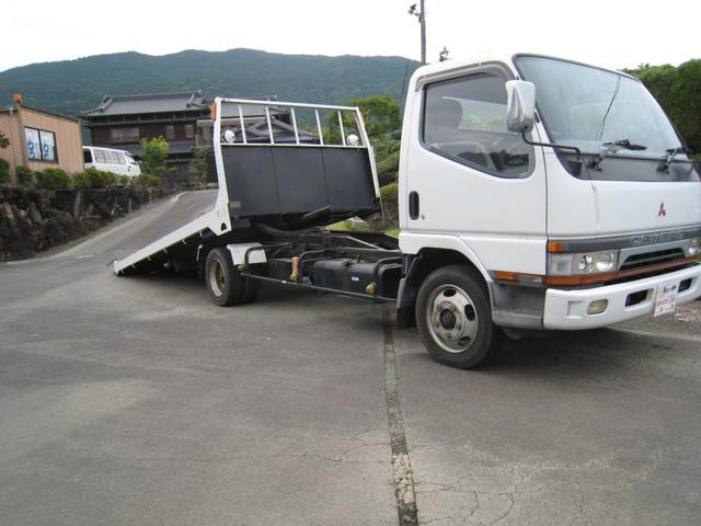 キャンター  1オーナー 一般型積載車ワイドロング5000 2060 花見台ラジコン付セーフティーローダー