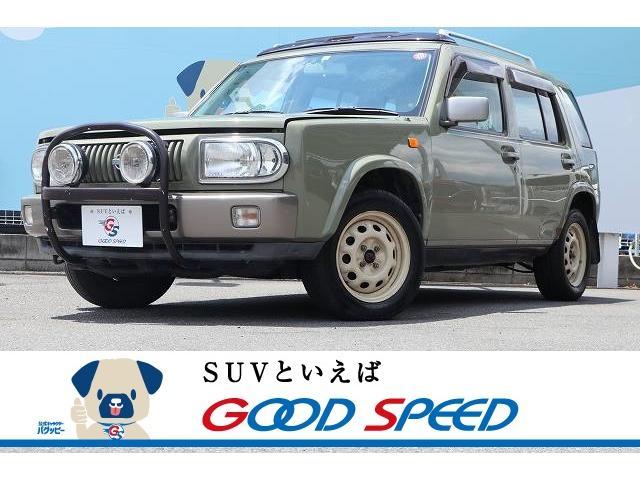 日産 ラシーン タイプII ユーザー買取車 サンルーフ ルーフレール 背面タイヤ