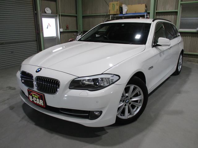 BMW 5シリーズ 523dブルーパフォーマンスハイラインパッケージ /HDDナビ地デジ/バックカメラ/黒革パワーシート/シートヒーター/ミラー型ETC/HIDヘッドライト/スマートキー/プッシュスタート/アイドリングストップ/ディーゼルターボ/禁煙車/グー鑑定車