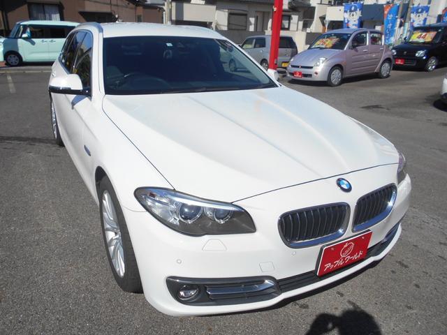 BMW 523dツーリング ラグジュアリー ワンオーナー レザーシート 純正10.2インチナビ フルセグTV バックカメラ インテリジェントセーフティシステム LEDフォグ 純正18インチAW コーナーセンサー パワーシート ドラレコ ETC