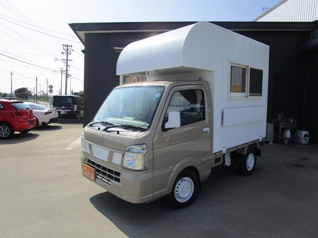 NT100クリッパートラック DX 移動販売車 軽トラック キッチンカー 販売カー オートマ 小型トラック 保証付き ブラウン 茶 茶色 色替車