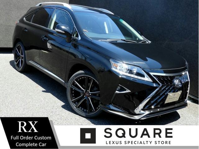 レクサス RX RX270 バージョンL 現行Fスポーツ仕様/スピンドルグリル/流れるウィンカー/後期仕様ヘッドライト/新品22インチ/新品タイヤ/サンルーフ/ソナー/黒革シート/Bluetooth/シートヒーター&クーラー/パワートランク